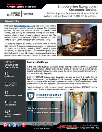 FORTRUST Data Center Empowers Exceptional Customer Service with MPulse