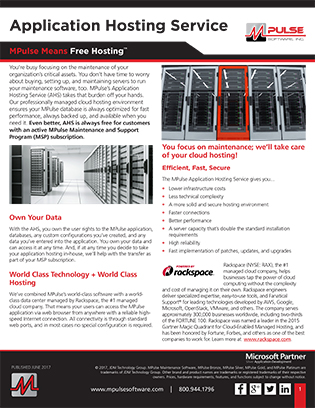 Application Hosting Service (AHS) Datasheet