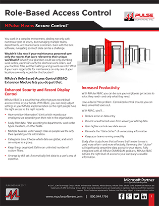 Role-Based Access Control (RBAC) Datasheet