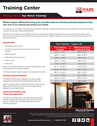 MPulse Training Center Datasheet