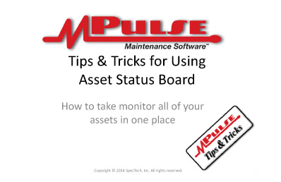 Webinar: Using Asset Status Board
