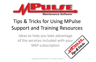 Webinar: Accessing MPulse Training and Support