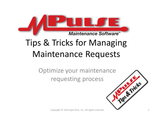 Webinar: Managing Maintenance Requests
